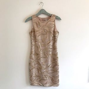 Belle Badgley Mischka | Gold Wallis Cocktail Dress